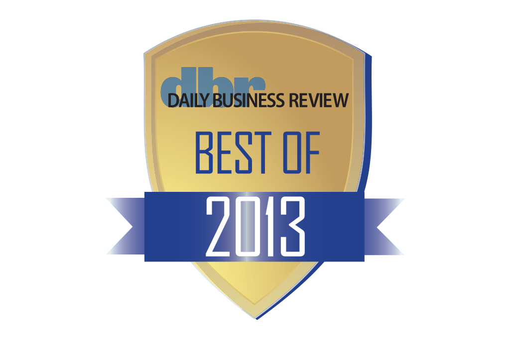 Daily Business Review Best of Award 2013