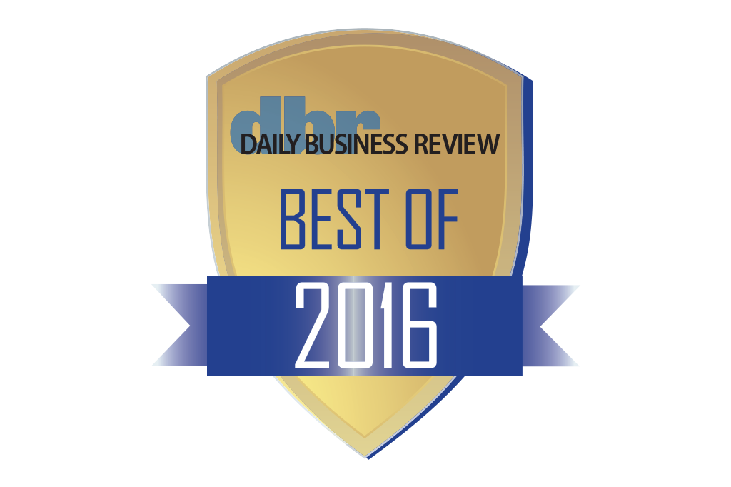 Daily Business Review Best of Award 2016