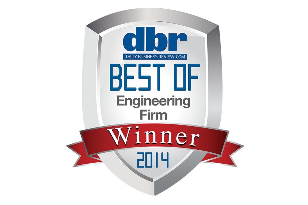 Daily Business Review Best Engineering Firm Award 2014