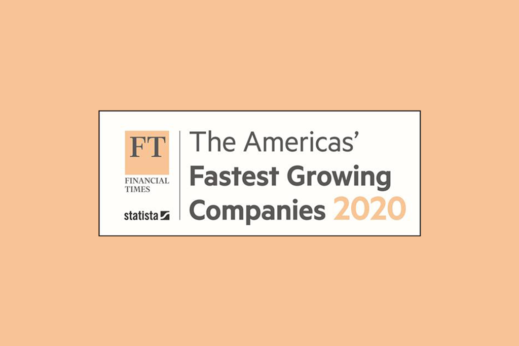 2020 Financial Times America's' Fastest Growing Companies
