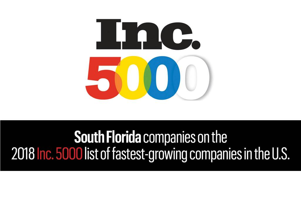 2018 Inc. 5000 Fastest Growing Companies in the U.S.