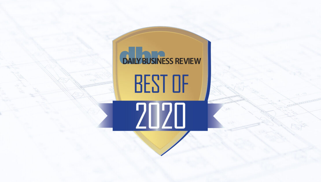 m2e Awarded Best Local Engineering Firm 2020 by Daily Business Review