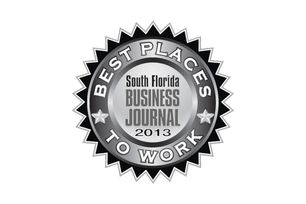 2013 South Florida Business Journal Best Places to Work Award