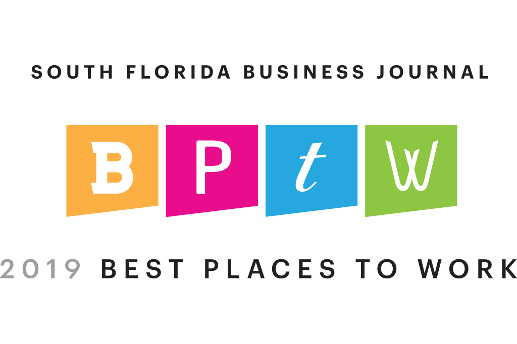 2019 South Florida Business Journal Best Places to Work Badge