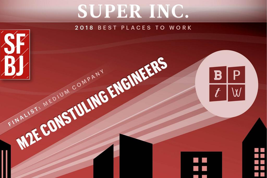 2018 South Florida Business Journal Best Places to Work - M2E Consulting Engineers