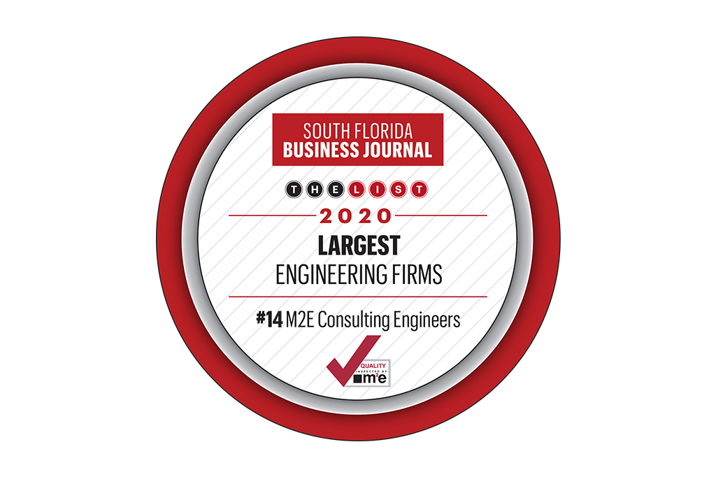 2020 South Florida Business Journal Top 25 Engineering Firms Award
