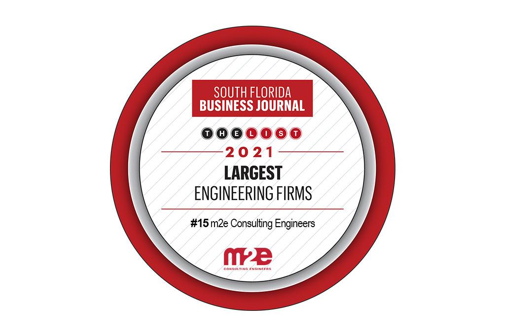 2021 South Florida Business Journal Top 25 Engineering Firms Award